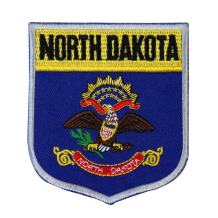 State Flag Shield North Dakota Patch Badge Travel Embroidered Iron On Applique