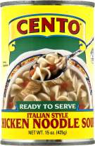 Cento Italian Style Chicken Noodle Soup, 15 Ounce Cans (Pack of 12)