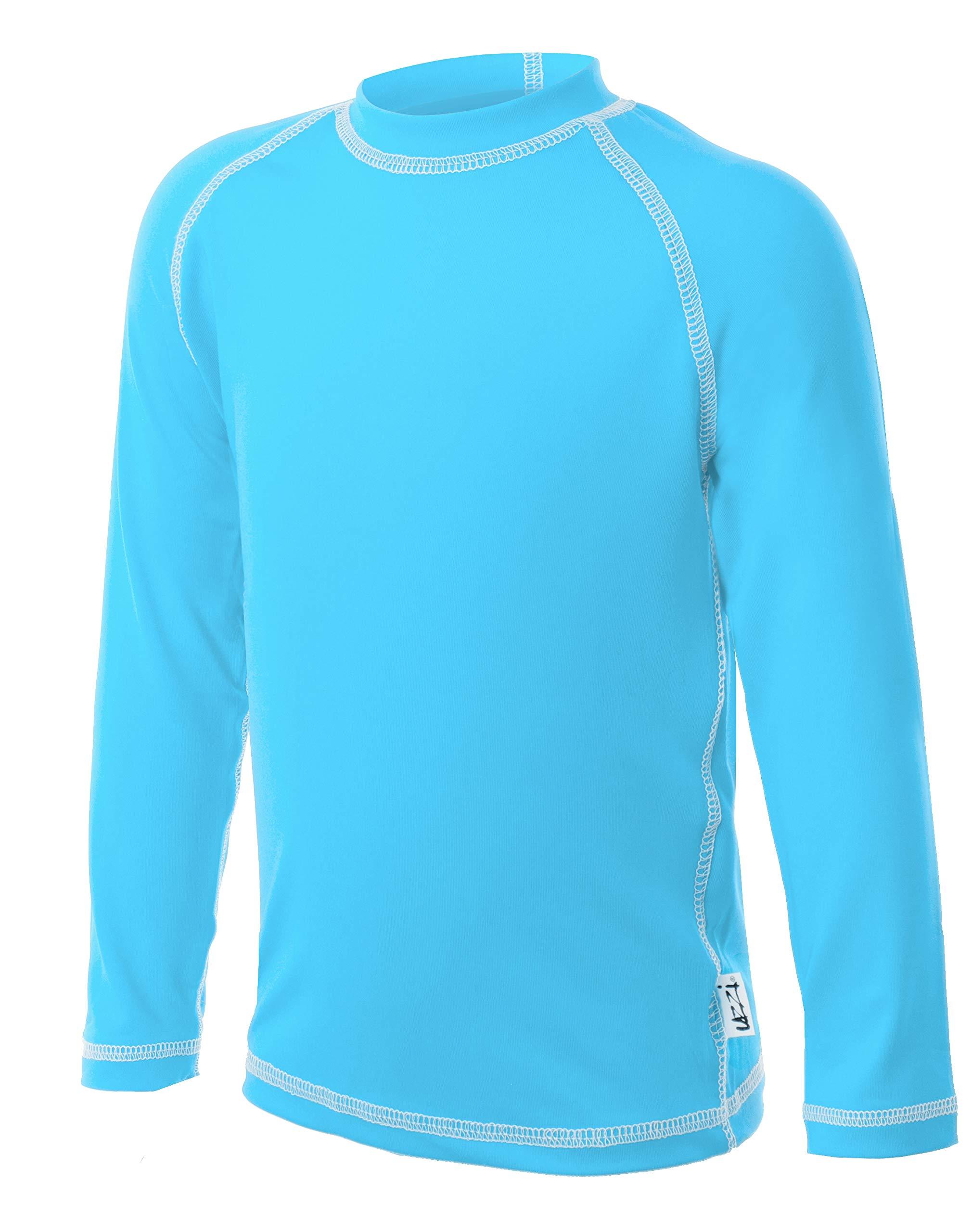 UZZI Kids UPF 50+ Loose Cut Long Sleeve Rashguard Swim T-Shirt
