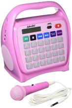 Hamilton Buhl Juke24 - Portable, Digital Jukebox with CD Player and Karaoke Function - Pink