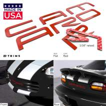 BDTrims Bumper Raised Letters Compatible with 1992-2002 Camaro Models (Red)