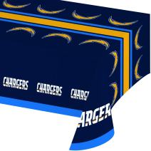 Creative Converting Officially Licensed NFL Plastic Table Cover, 54x102, L.os Angeles Chargers - 729526