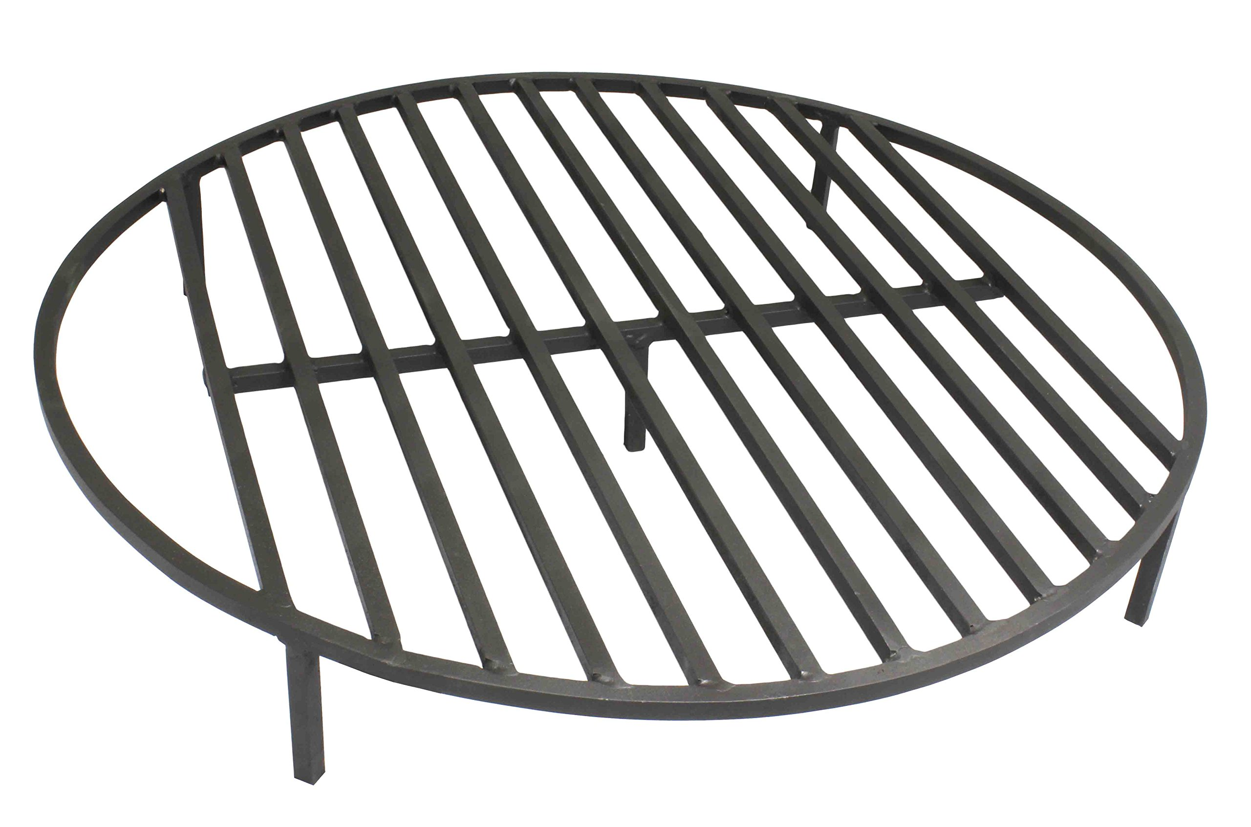 """TITAN GREAT OUTDOORS Round Fire Pit Grate 30'' Heavy Duty Grill Cooking Campfire Camp Ring 1/2"""" Steel"""