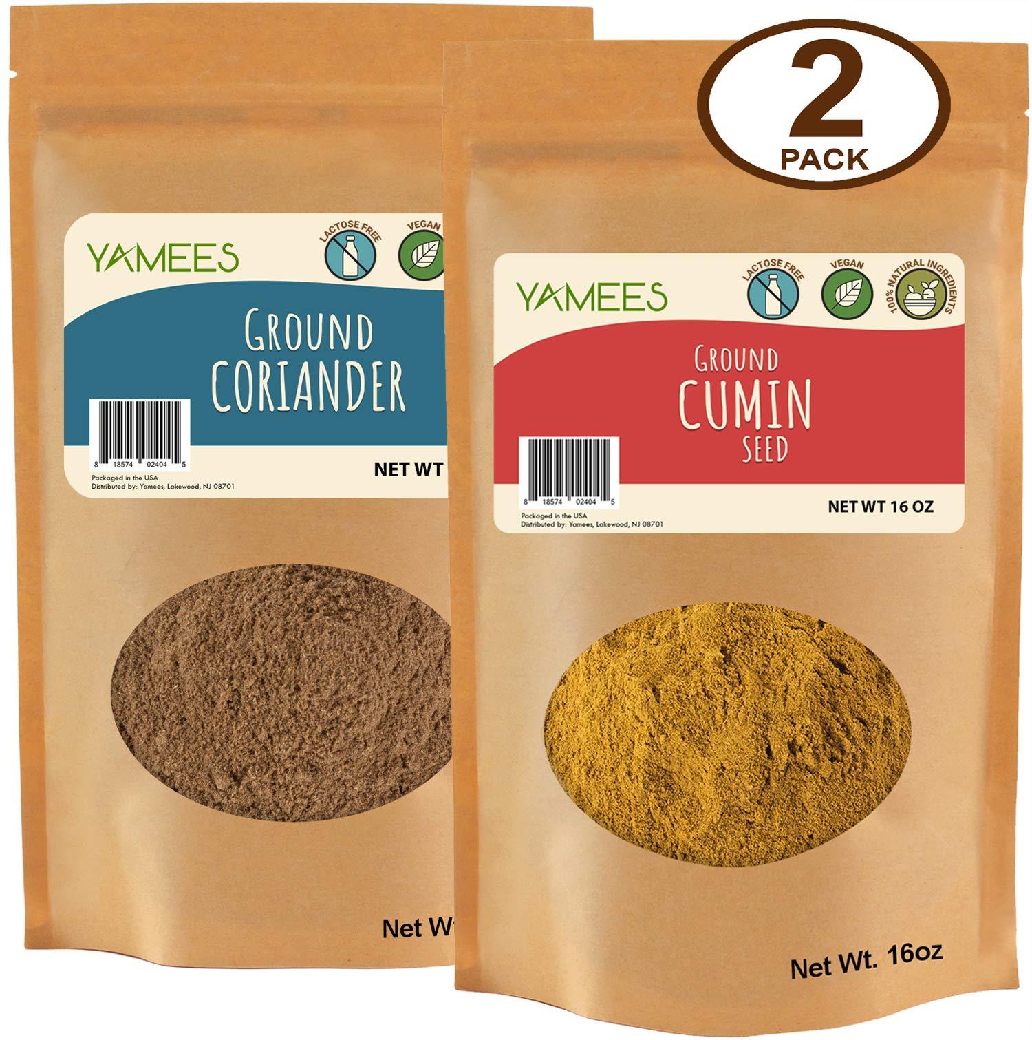 Cumin Powder - Coriander Powder - Coriander and Cumin Ground - Bulk Spices - 2 Pack of 14 Ounce Each