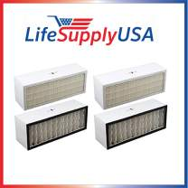 LifeSupplyUSA 2 Pack Replacement Filter Compatible with A1001B Bionaire Models LC1060 & LE1160 Air Cleaner Dual Filter Cartridge