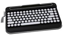 Penna Bluetooth Keyboard with White Chrome Keycap(US Language) (Switch-Cherry Mx Brown, Matte Black)