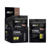 ATAQ Plant Based Protein Powder, Vegan, Chocolate, 25g Protein (Pea, Rice, Flax, Chia, Pumpkin), Non GMO, Non Dairy, Non Soy, No Added Sugars, 8 Single Serving Packets