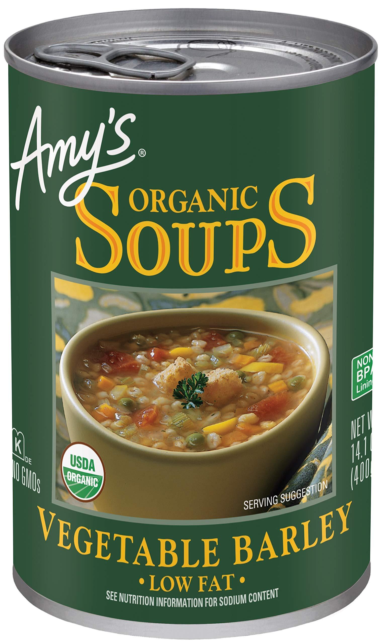 Amy's Organic Vegetable Barley Soup, Low Fat, Vegan, 14.1-Ounce