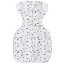 Halo Sleepsack Self-Soothing Swaddle with Teethers, Tiny Town, Small