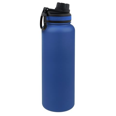 Tempercraft 40 oz Vacuum Insulated Sport Bottle | Custom Laser Engraved Options | Stainless Steel, Double-Walled, Wide Mouth