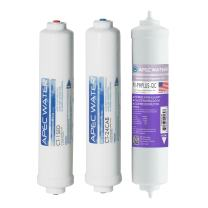 APEC Water Systems FILTER-SET-CTOP-PH US Made Replacement Filter Set For Ultimate Series Countertop Alkaline Reverse Osmosis Water Filter System Stage 1, 2&4