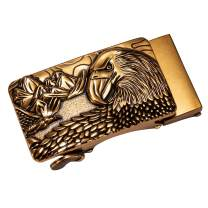Barry.Wang Mens Buckles Only,Ratchet Leather Belt Automatic Buckle Novelty Designer