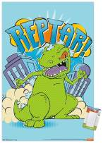 "Trends International Poster Mount Nickelodeon Rugrats - Reptar, 22.375"" x 34"", Poster & Mount Bundle"