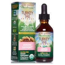 Host Defense, Turkey Tail Extract, Natural Immune System and Digestive Support, Daily Mushroom Mycelium Supplement, Organic, 2 fl oz (30 Servings)