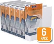 QuickFit View Binder, 2 Inch, Round Ring, White, 6 Pack (88030-06)