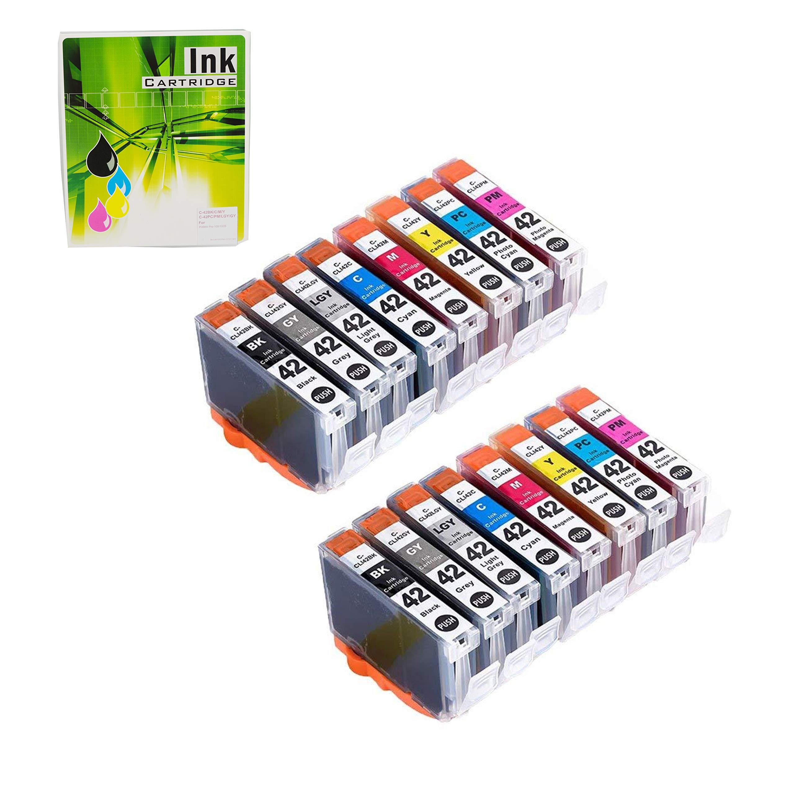 NEXTPAGE Compatible Ink Cartridges Replacement for Canon CLI-42 CLI42 Professional Inkjet PIXMA PRO-100 8 Colors 2 Set 16 PCS