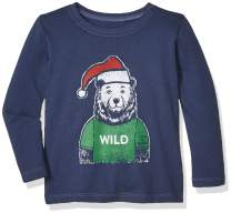 Life Is Good Kids & Baby Holiday Long Sleeve Crusher T-shirt Wild Santa Bear T