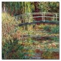 Water-Lily Pond Pink Harmony, 1900 by Claude Monet, 14x14-Inch Canvas Wall Art