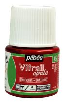 Pebeo Vitrail, Stained Glass Effect Paint, 45 ml Bottle - Red