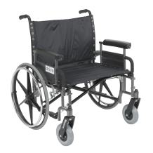 "Drive Medical Sentra Heavy Duty Wheelchair with Various Arm Styles, Chrome, 28"""