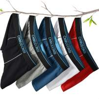 CNMUDONSI Boys Underwear Size 5-14 Years Old Cotton Tagless 5 Pack Boys' Boxer Briefs
