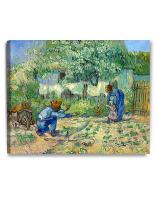 DECORARTS - First Steps, After Millet. Vincent Van Gogh Reproductions. Giclee Print for Wall Decor. 24x30