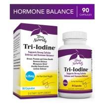 Terry Naturally Tri-Iodine 6.25 mg - 6250 mcg Iodine, 90 Vegan Capsules - Supports Hormone Balance, Promotes Breast & Prostate Health - Non-GMO, Gluten-Free, Kosher - 90 Servings