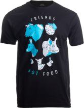 Friends Not Food   Cute Vegetarian Veg Vegan Animal Art for Women or Men T-Shirt