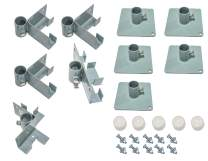 Tommy Docks 12 FT Bracket Kits for T-Style, L-Style & Straight Dock Section with Augers/Footpads - Lite Duty Steel Boat Dock Hardware & Marine Accessories