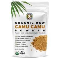 Earth Circle Organics Camu Camu Powder - Organic Berry Powder | Vitamin C, Antioxidants, Raw, Vegan | Purest Source & Eco-Friendly Packaging-3 Ounce