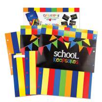 School Memory Scrapbook (3 Sets) Refill Extra Pockets and Photo Pages Kits for Class Keeper Memory Keepsake Book for Girls and Boys
