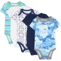 HonestBaby Baby 5-Pack Organic Cotton Short Sleeve Bodysuits