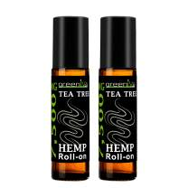7,500mg Hemp Infused Tea Tree Roll-On - 100% Pure, Pre-Diluted Hemp Infused Tea Tree Roll-On - Therapeutic Grade with many Aromatherapy Benefits (2 Pack)