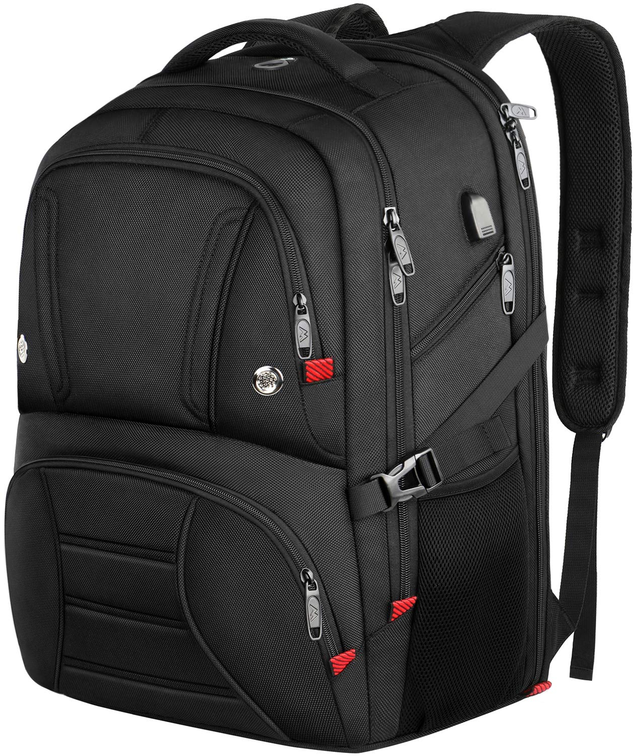Deegotech Extra Large Backpack for Men, 18.4 Laptop Backpack Durable Heavy Duty School Backpack with USB Port, TSA Friendly Water Resistant Travel Backpack Big College Bag Business Backpacks,Black