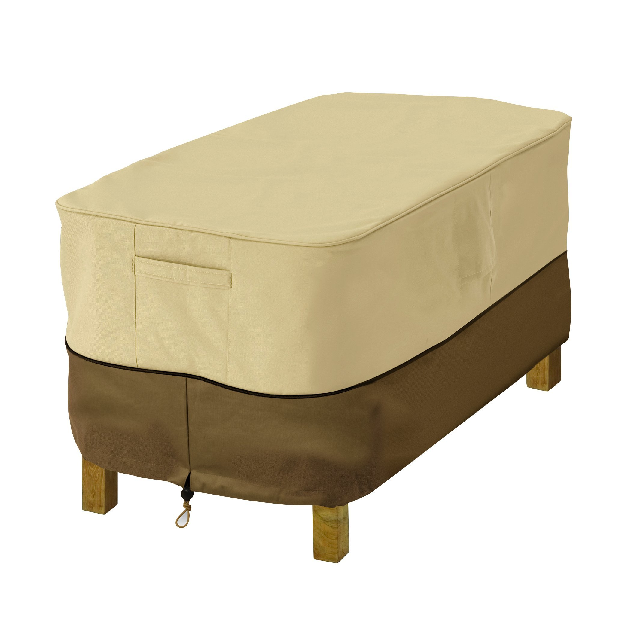 Classic Accessories Veranda Water-Resistant 26 Inch Rectangular Patio Ottoman/Side Table Cover