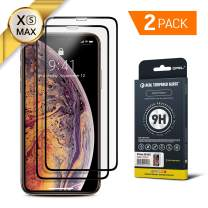 GPEL Screen Protector for iPhone Xs Max/iPhone 11 Pro Max Compatible Real Tempered Glass Case-Friendly Work with Most Case [HD Clarity] 9H Hardness 99% Touch Accurate (2-Pack)