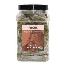 White Lion Focus (Mind Matters) Wellness Tea | 100% USDA Certified Organic | Stay Alert and Focused | 50 Count Canister