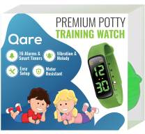 Premium Potty Training Watch - Only Watch with Multiple Alarms (16) to Fit Your Schedule & Easy to Use Smart Timer - Water Resistant - Both Vibration & Music - Kids Lock - Touchscreen-Easy Use(Green)