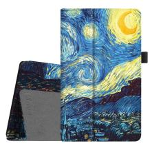 Fintie Folio Case for All-New Amazon Fire HD 8 Tablet (Compatible with 7th and 8th Generation Tablets, 2017 and 2018 Releases) - Slim Fit Premium Vegan Leather Standing Protective Cover, Starry Night