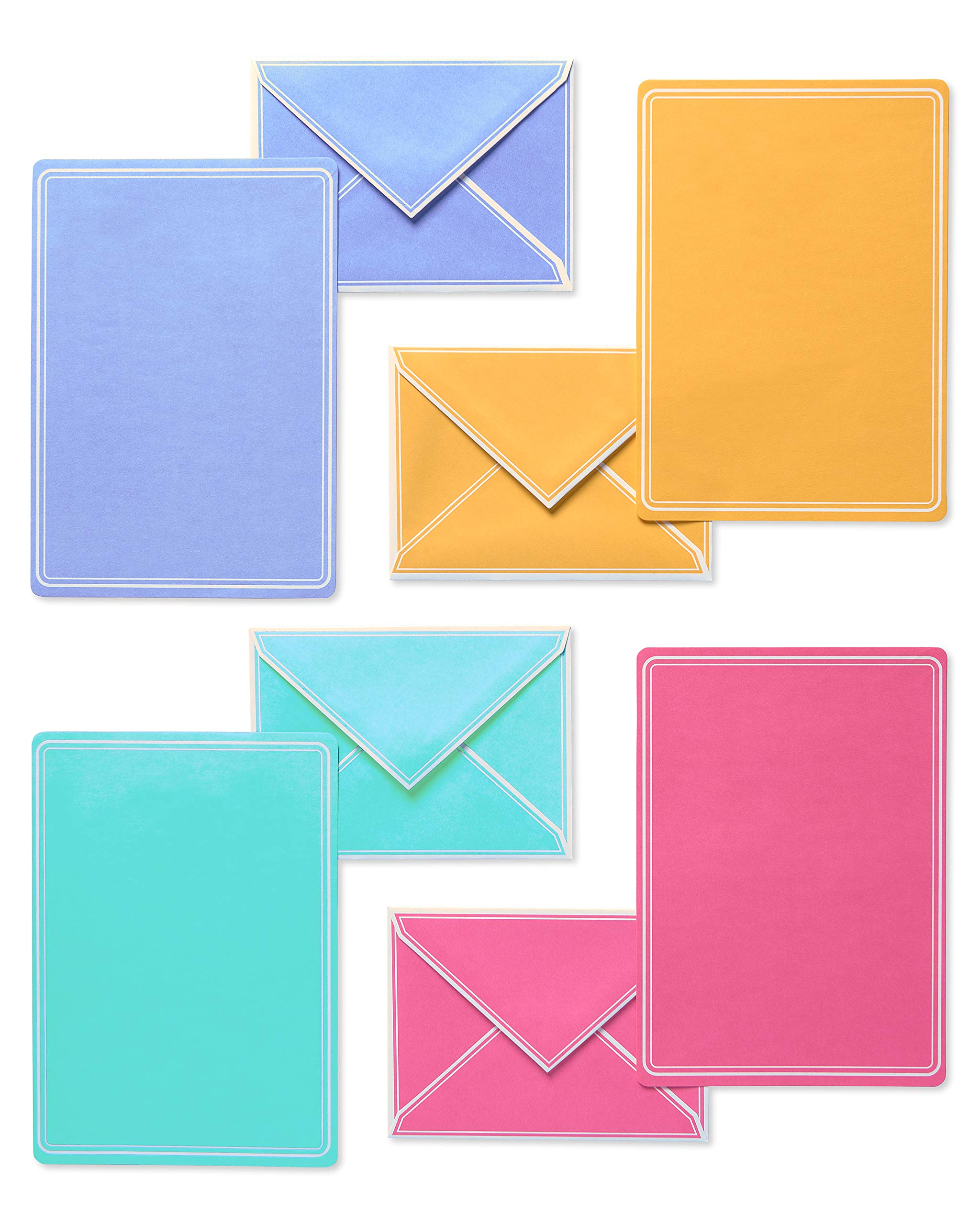 American Greetings Pastel Stationery Sheets and Colored Envelopes, 80-Count - 5672229