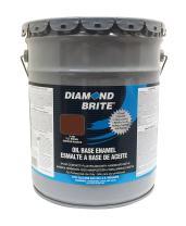 Diamond Brite Paint 31400 5-Gallon Oil Base All Purpose Enamel Paint   Tile Brown