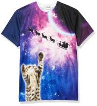Faux Real Men's 3D Photo-Realistic Ugly Christmas Sweater Short Sleeve T-Shirt