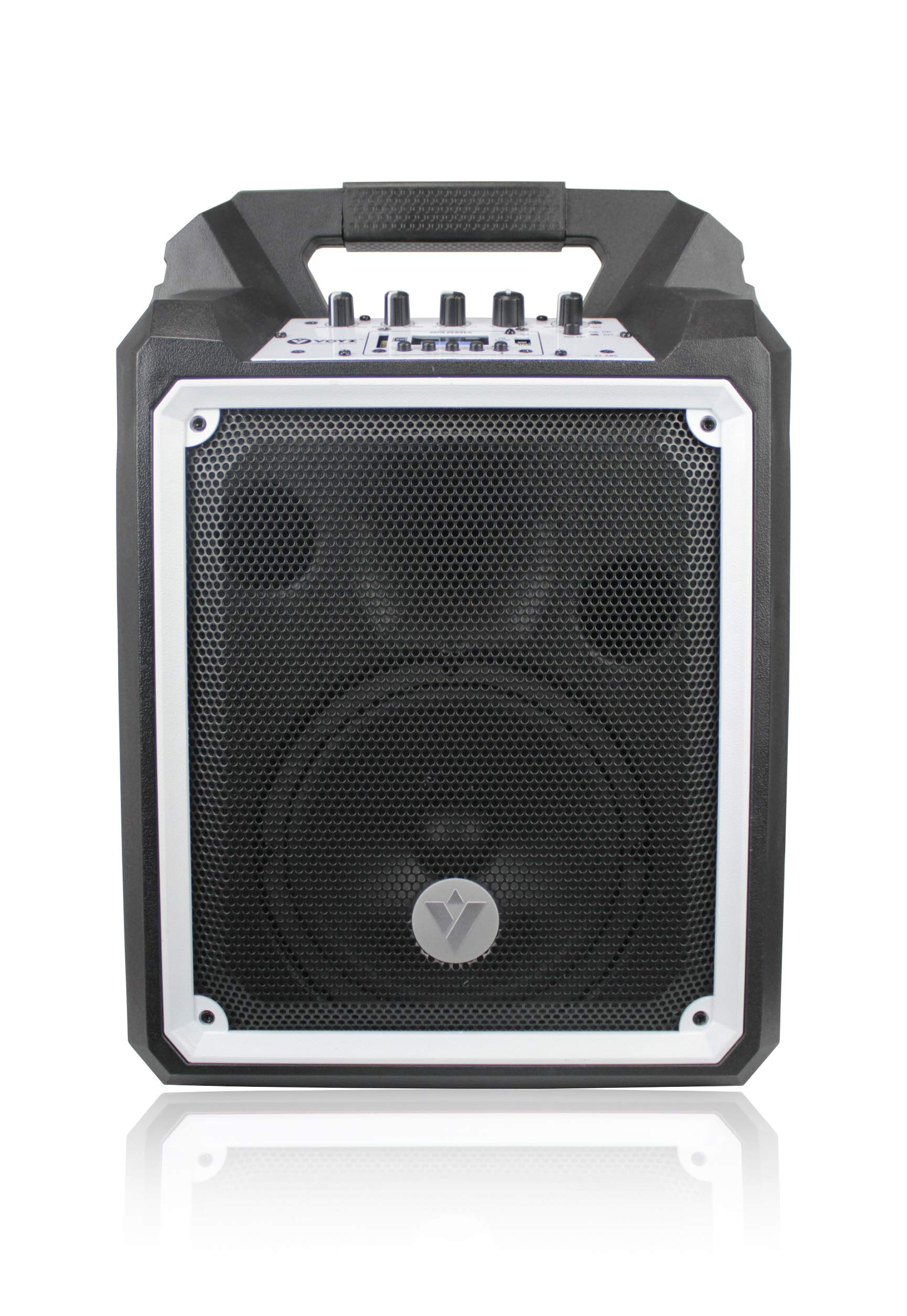 VOYZ 100W Bluetooth Boombox Speaker - Portable, Wireless, Waterproof - Rugged Construction Loudspeaker with Built in Sub-Woofer - Rechargeable Battery FM Radio equipped USB MP3 SD Card Reader (VZ-AB6)