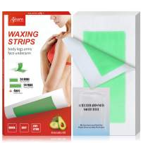 Wax Strips, Ajoura Hair Removal Strips for Body Face Legs Bikini Brazilian Underarm Women Men, Waxing Strips with 48 Count Double Side Cold Wax Strips & 4 Post Care Wipes