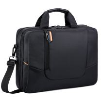 BRINCH(TM 17.3 inch New Soft Nylon Waterproof Laptop Computer Case Cover Sleeve Shoulder Strap Bag with Side Pockets Handles and Detachable for Laptop/Notebook/Netbook/Chromebook,Colour Black