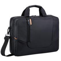 BRINCH 14 inch New Soft Nylon Waterproof Laptop Computer Case Cover Sleeve Shoulder Strap Bag with Side Pockets Handles and Detachable for Laptop/Notebook/NetBook/Chromebook,Colour Black