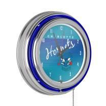 Charlotte Hornets Hardwood Classics NBA Chrome Neon Clock