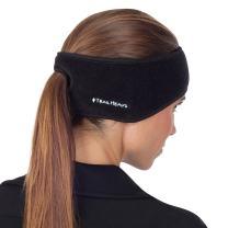 TrailHeads Women's Ponytail Headband | Fleece Earband | Winter Running Headband