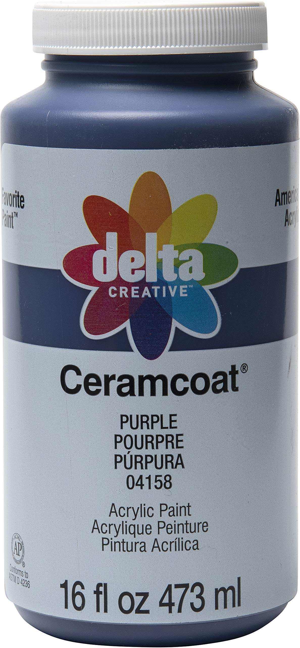 Delta Creative Ceramcoat Acrylic Paint in Assorted Colors, 16 oz, Purple