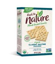 Back to Nature Crackers, Organic Saltine, 7 Ounce (Pack of 6) (Packaging May Vary)